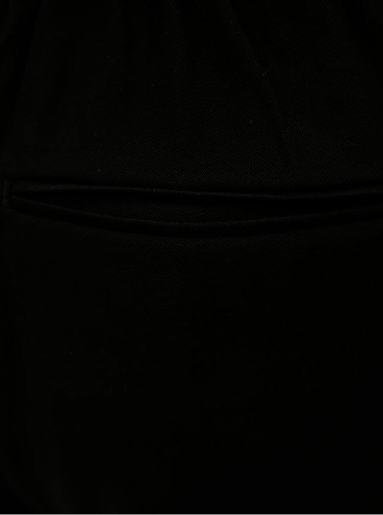 Černé kraťasy s vysokým pasem VILA Esther