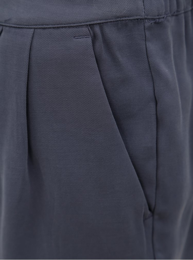 Tmavě šedé kraťasy s vysokým pasem VILA Esther