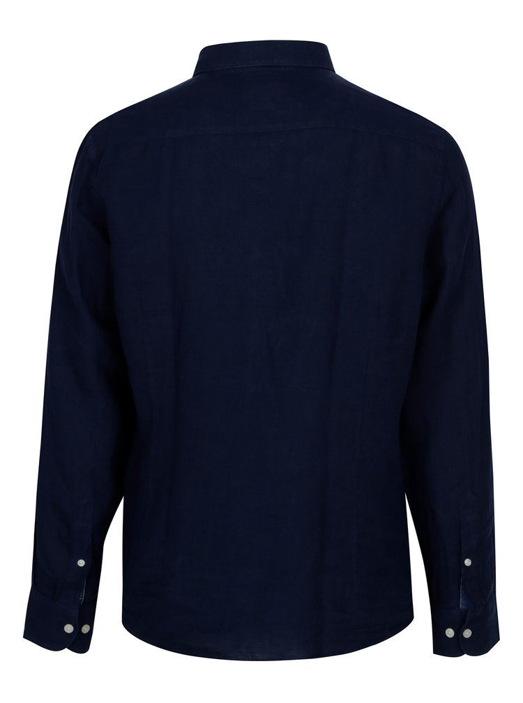 Camasa bleumarin slim fit din in Hackett London