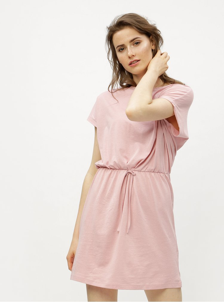 Starorůžové šaty VERO MODA Rebecca