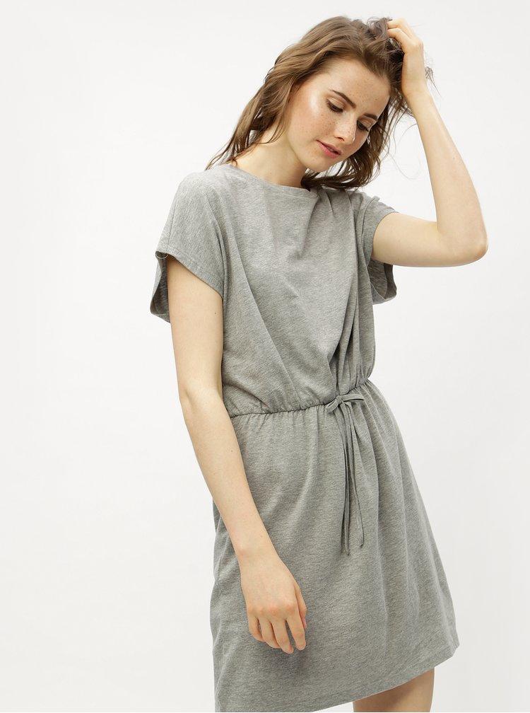 Šedé žíhané šaty VERO MODA Rebecca