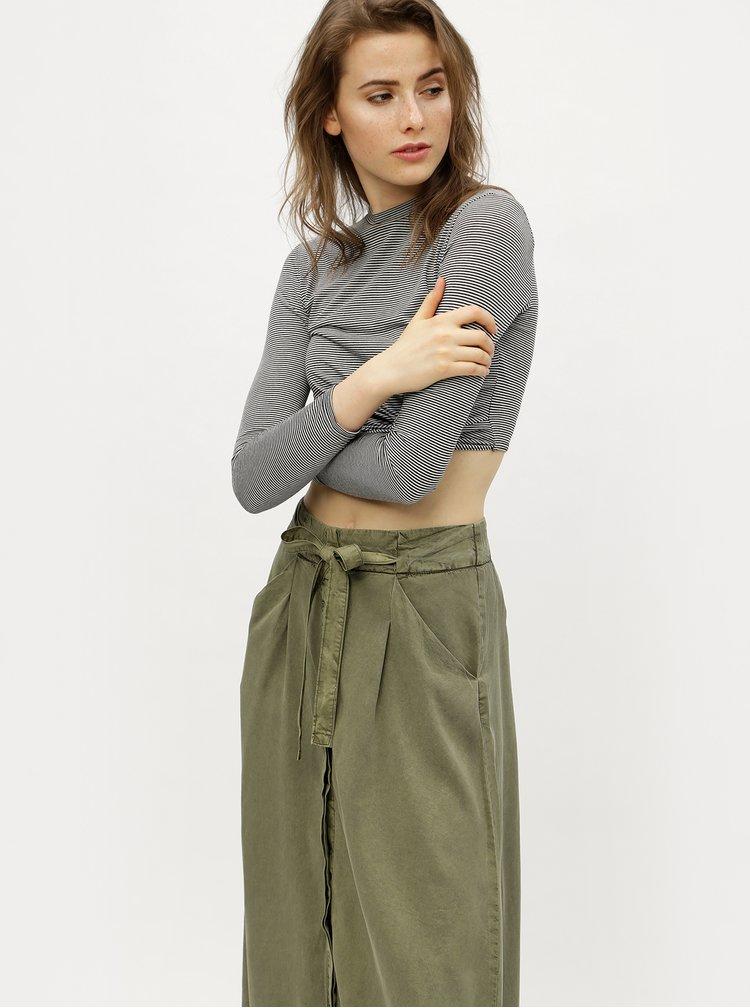 Khaki maxi sukně VERO MODA Breeze