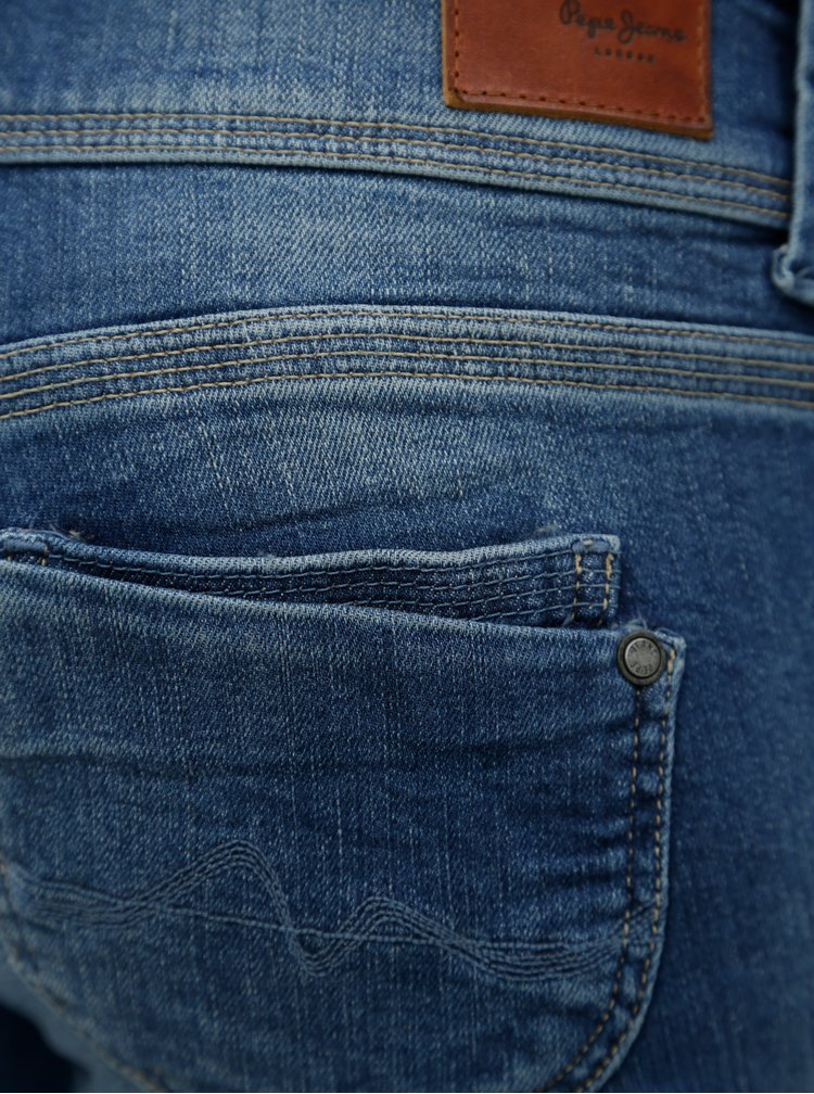 Blugi albastri 3/4 cu aspect prespalat pentru femei -  Pepe Jeans Venus