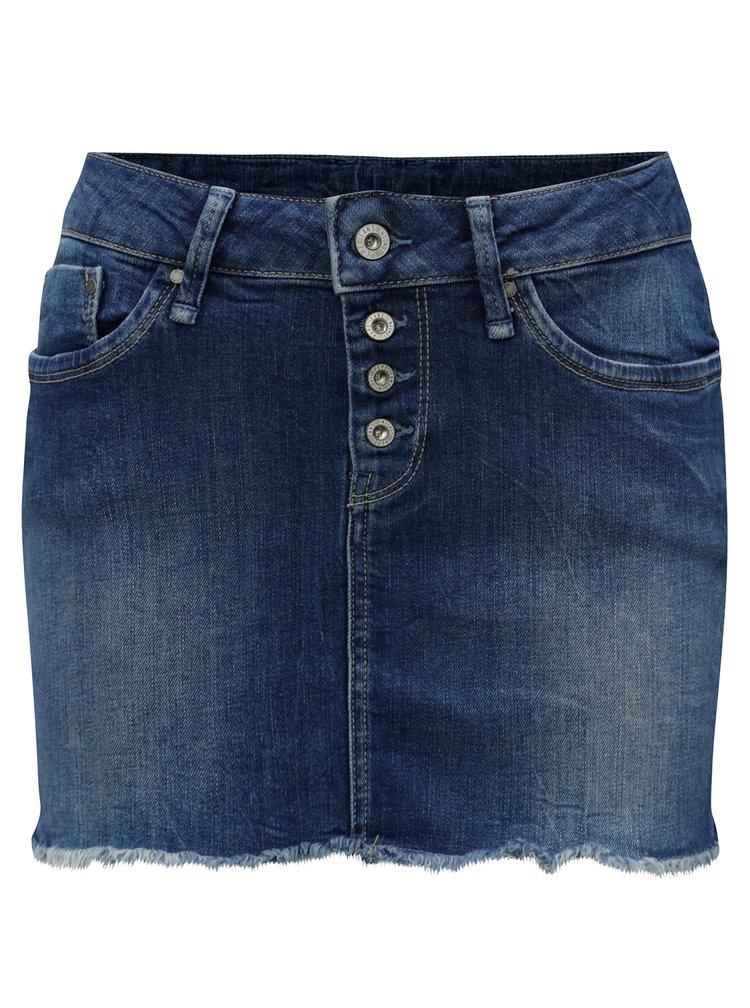 Modrá džínová regular minisukně Pepe Jeans Sparrow