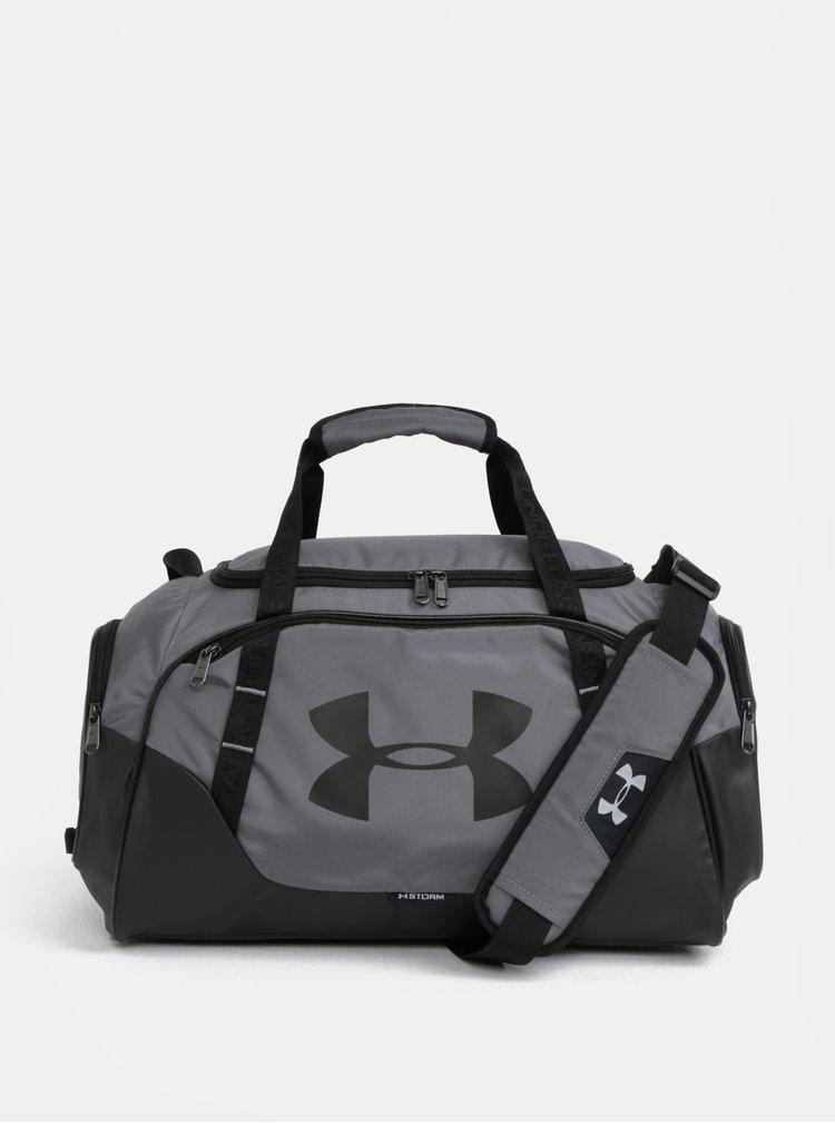 Černo-šedá voděodolná sportovní taška Under Armour