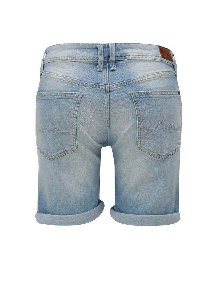 Světle modré dámské džínové kraťasy Pepe Jeans Poppy