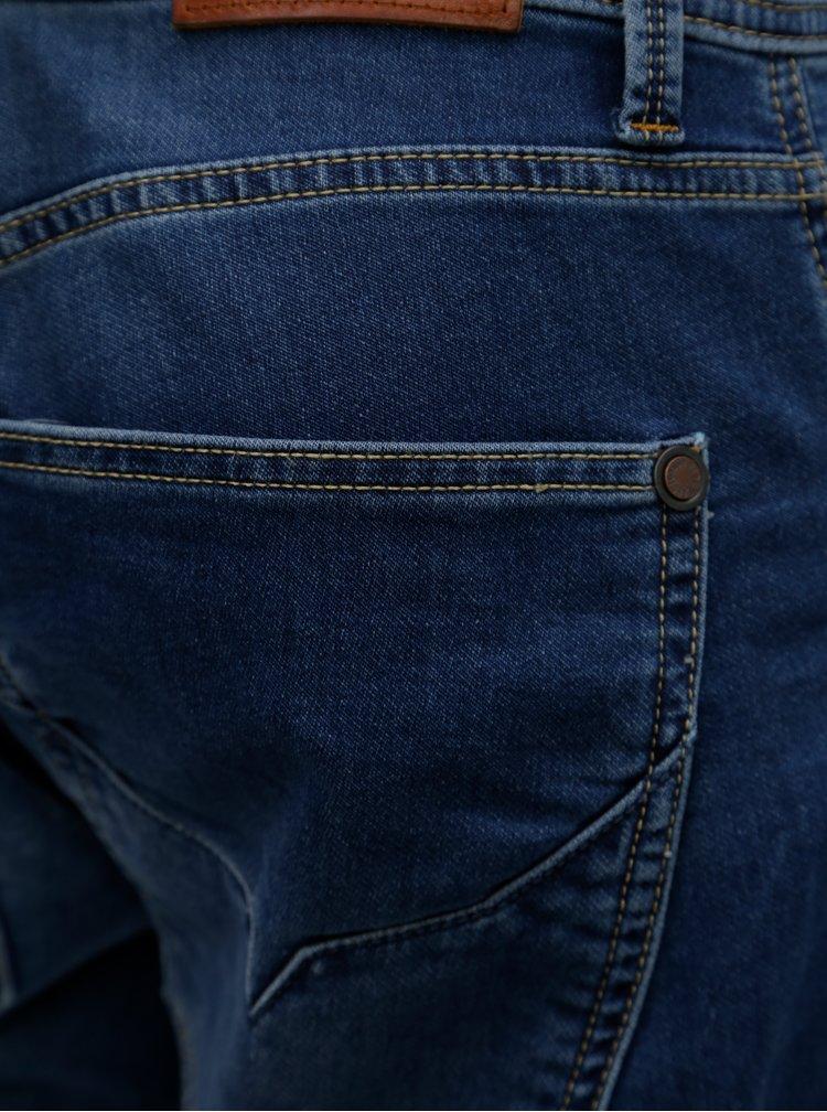 Modré pánské džínové  regular kraťasy Pepe Jeans Track short