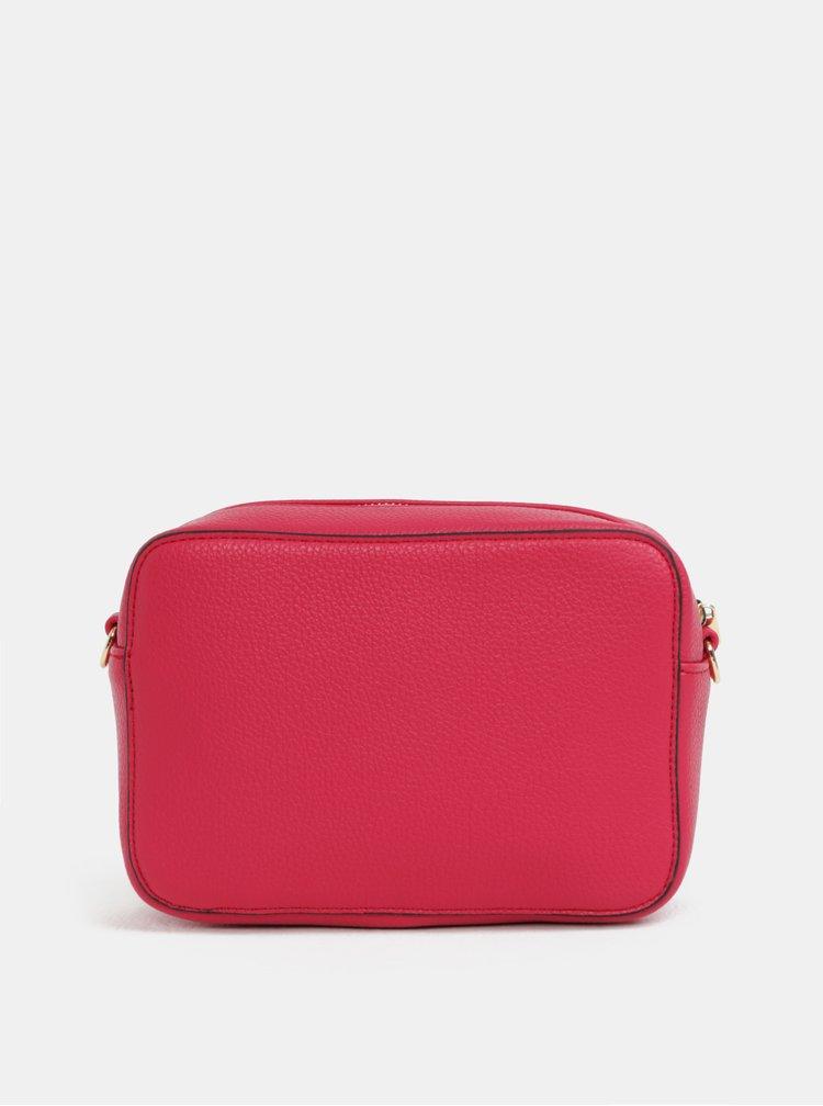 Červená crossbody kabelka s řetízkem Fornarina Liv