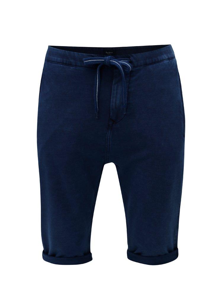Tmavě modré pánské teplákové regular kraťasy Pepe Jeans Miles short