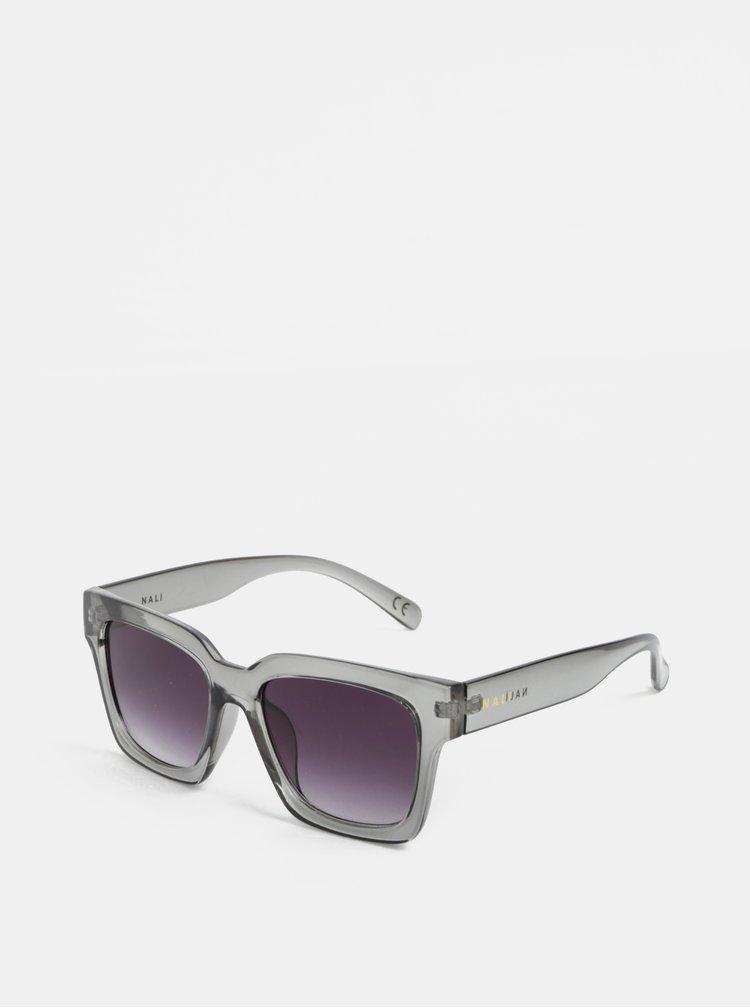 Šedé transparentní sluneční brýle Nalí