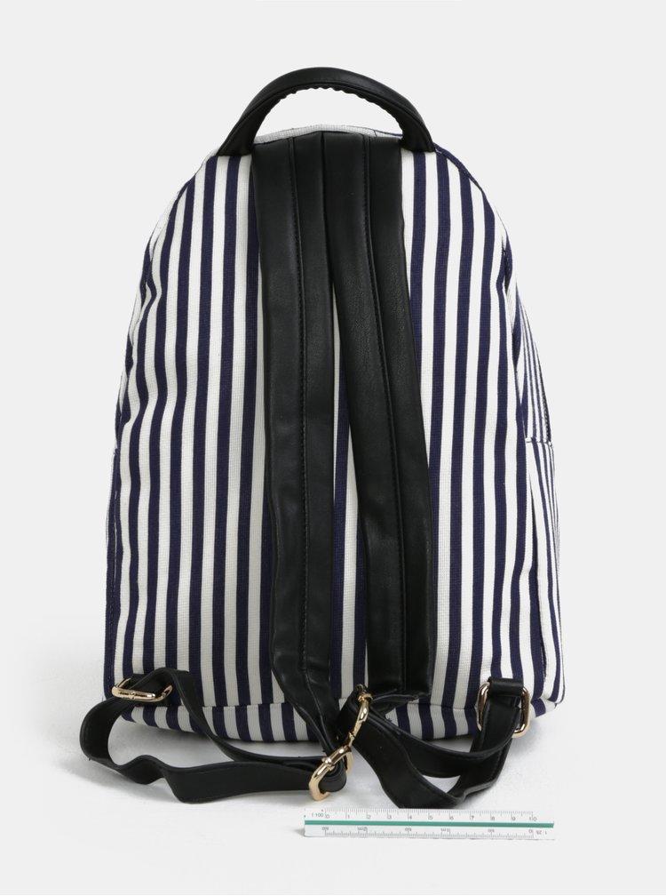 Bílo-modrý pruhovaný batoh Fornarina Billy