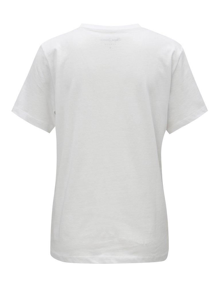 Bílé dámské tričko s potiskem Pepe Jeans Mariona