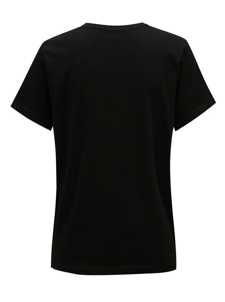 Černé dámské tričko s potiskem Pepe Jeans Mariona