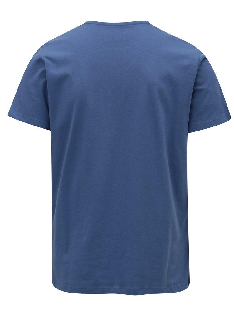 Modré pánské tričko s potiskem Pepe Jeans Darren