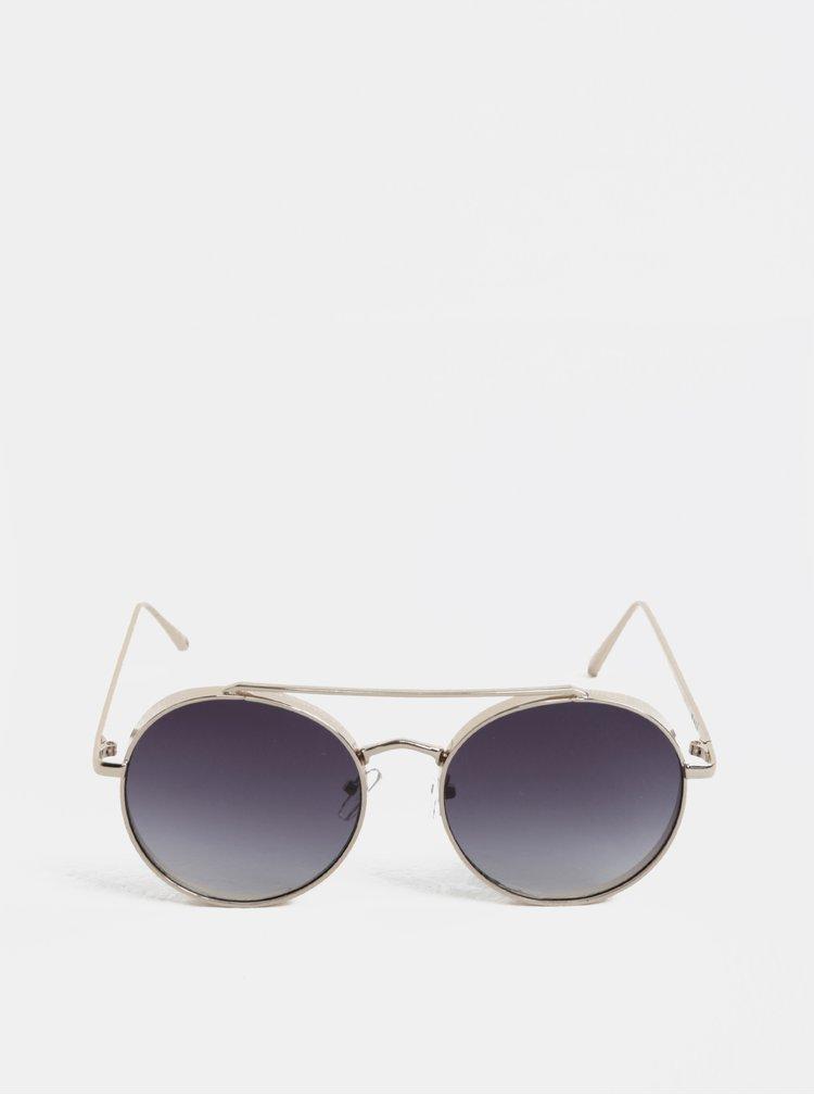 Kulaté sluneční brýle ve zlaté barvě Nalí
