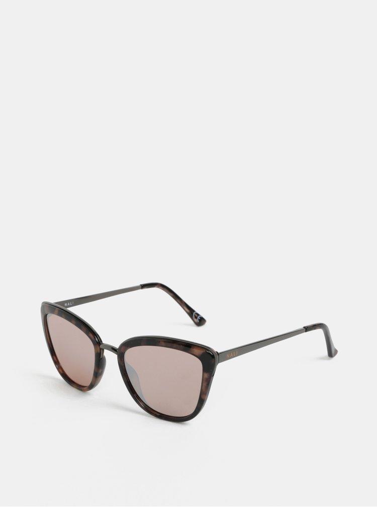 Hnědo-černé vzorované sluneční brýle Nalí