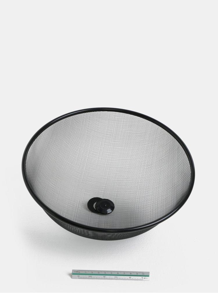 Černý kovový poklop na potraviny Dakls