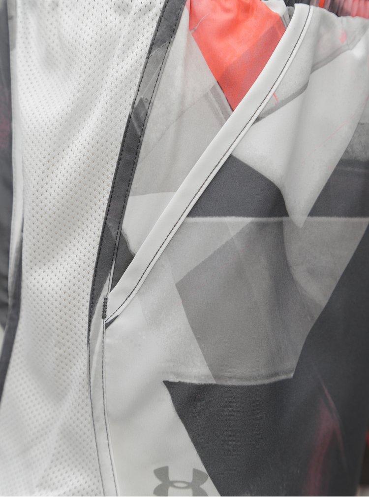 Světle šedé vzorované dámské sportovní kraťasy Under Armour