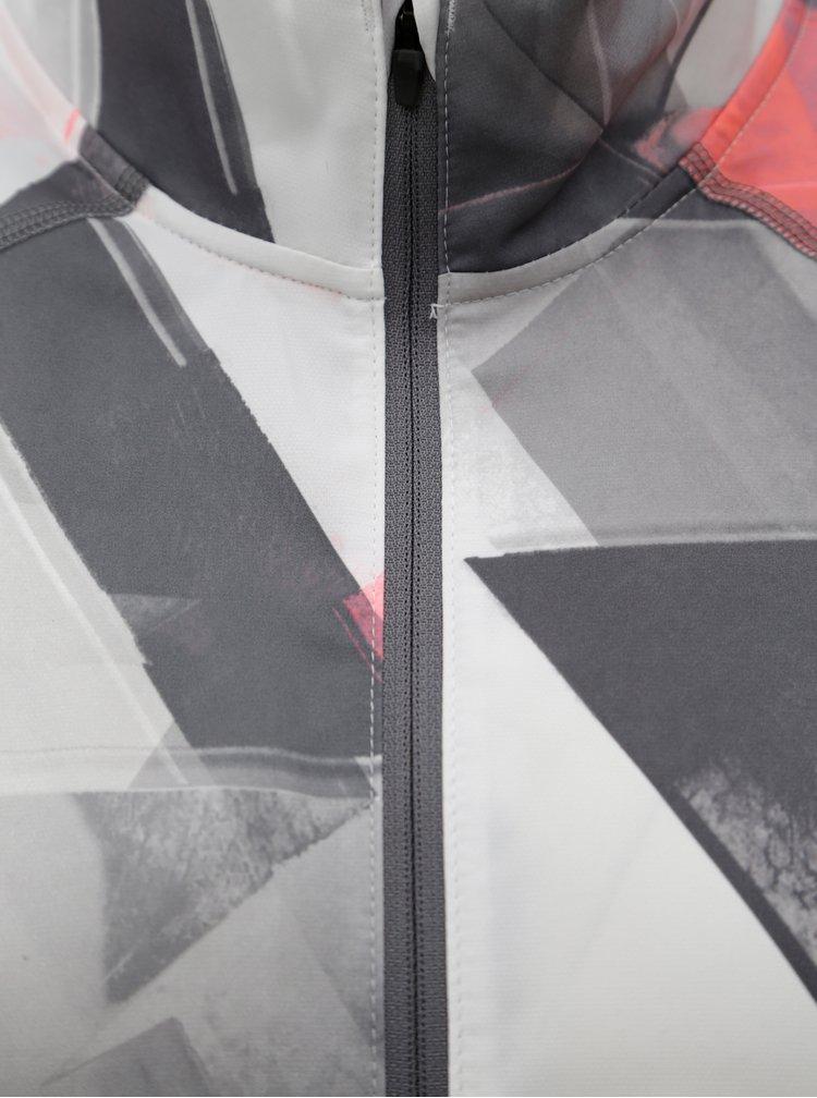Světle šedá vzorovaná lehká sportovní voděodolná dámská bunda Under Armour