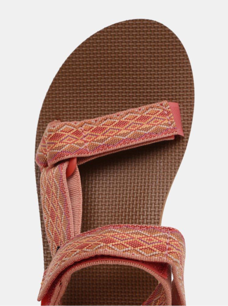 Korálové dámské vzorované sandály Teva
