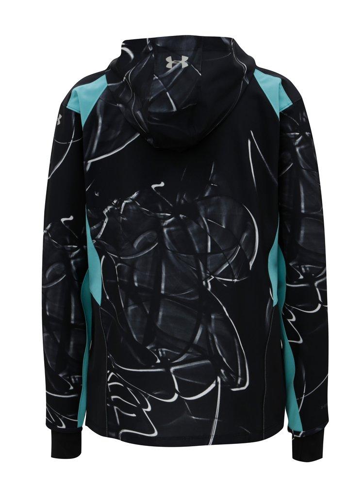 Jacheta de dama sport neagra lejera impermeabila cu model Under Armour
