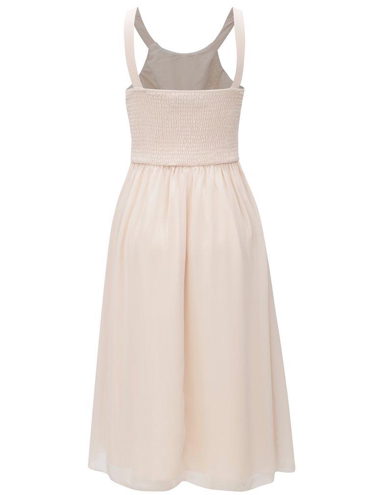 Světle růžové šaty s korálky Little Mistress