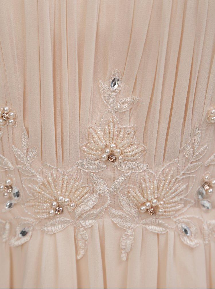 Rochie roz piersica cu margele Little Mistress