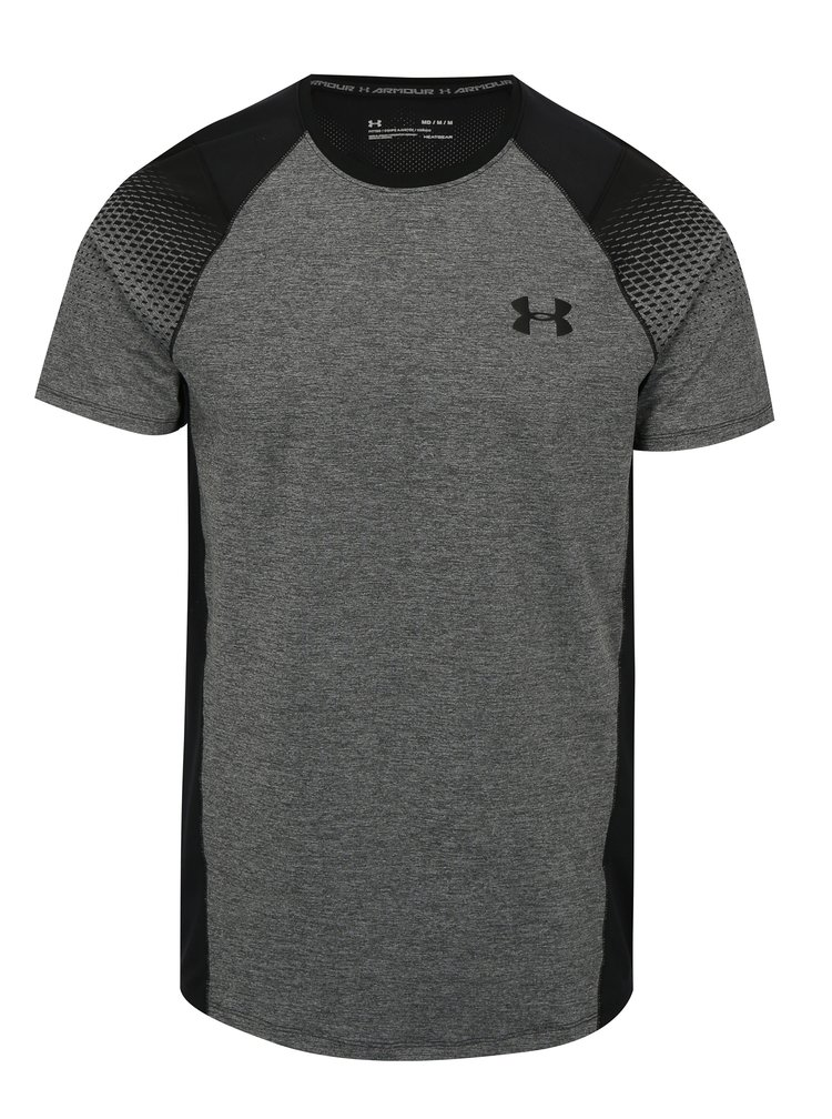 Tricou barbatesc functional negru-gri melanj Under Armour