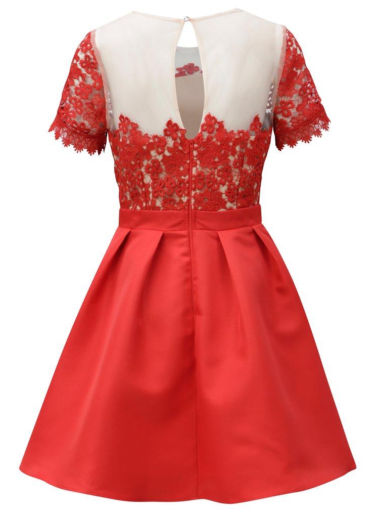 Rochie rosie cu top din dantela Little Mistress