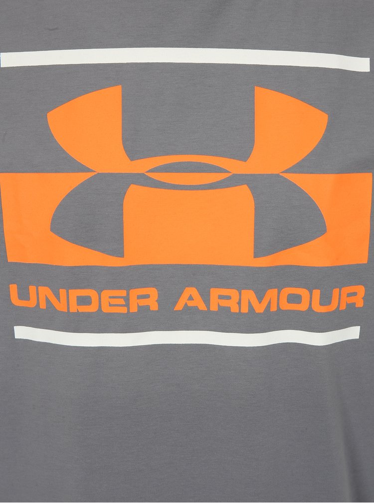 Šedé pánské fuknkční tričko s potiskem Under Armour