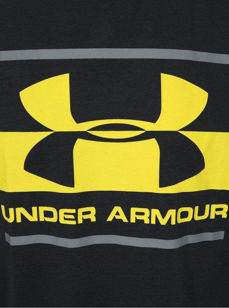 Tmavě šedé pánské funkční tričko s potiskem Under Armour