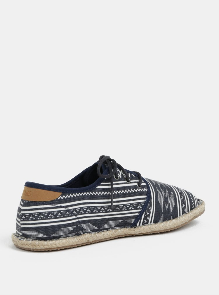 Bílo-modré pánské vzorované tenisky TOMS