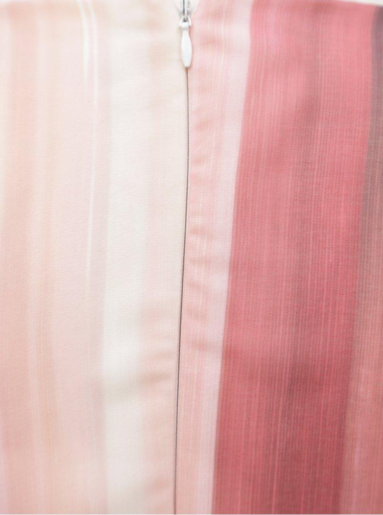 Modro-růžové pruhované maxišaty Little Mistress