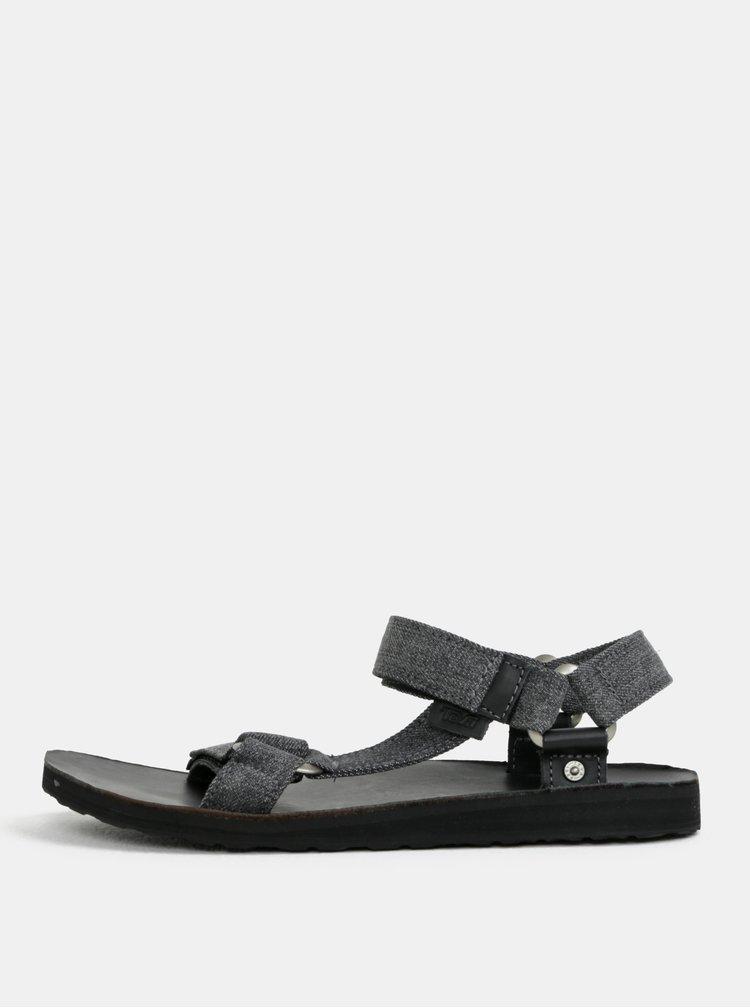 Tmavě šedé pánské žíhané sandály Teva