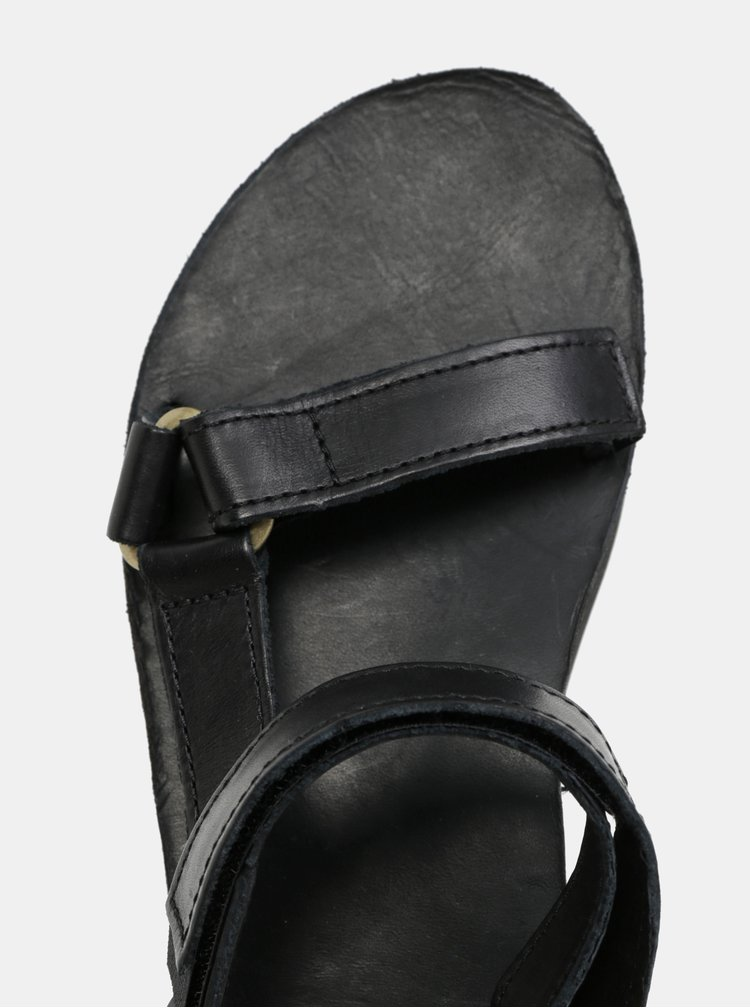 Černé dámské kožené sandály na platformě Teva