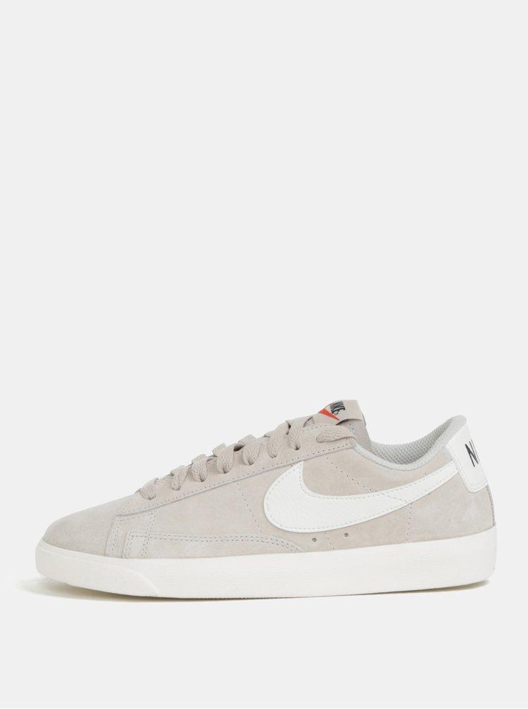 Světle šedé dámské semišové tenisky Nike Blazer Low