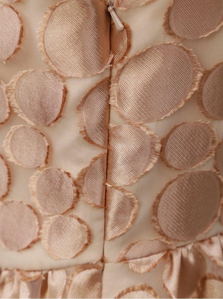 Vzorované šaty v růžovozlaté barvě Pietro Filipi