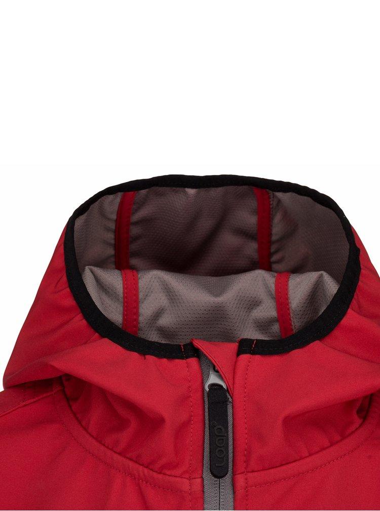 Červená dámská softshelová funkční bunda LOAP Letya
