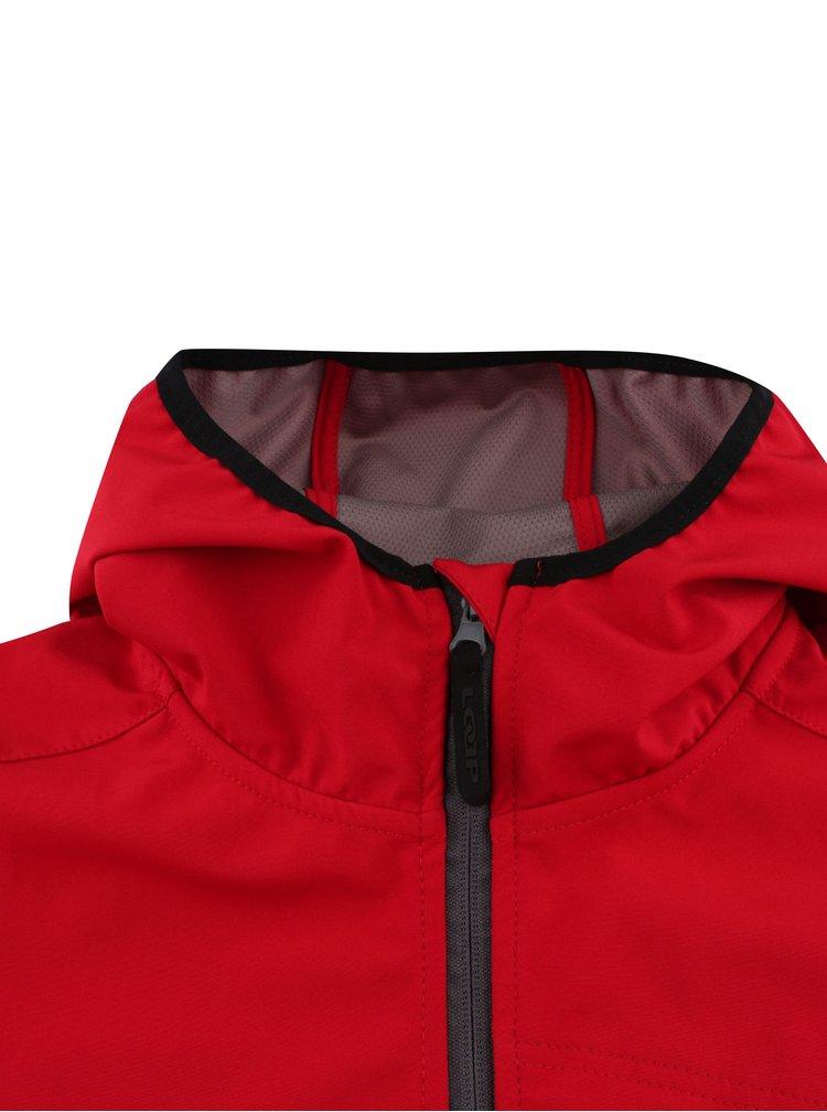 Červená pánská softshelová bunda LOAP Lenc