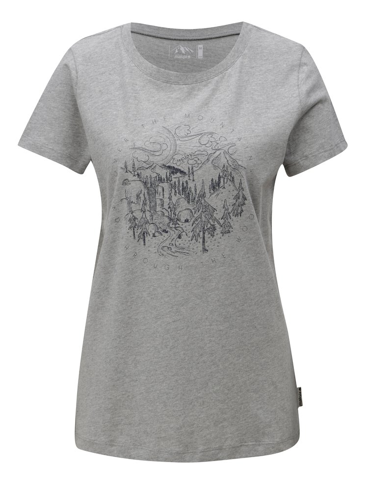 Šedé dámské tričko Maloja