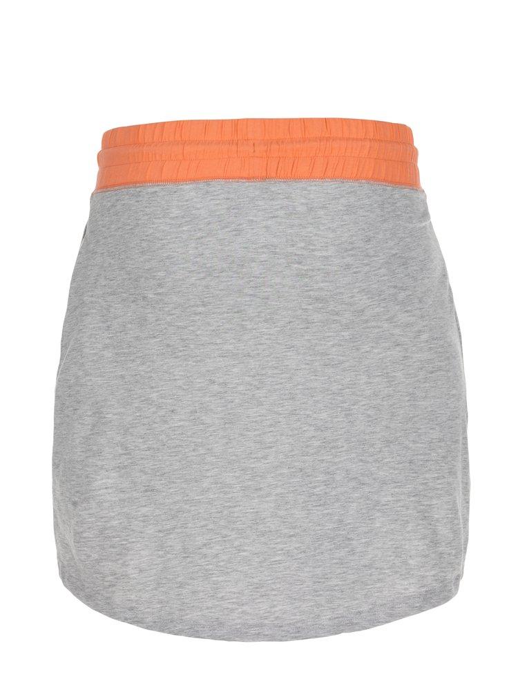 Růžovo-šedá žíhaná sukně LOAP Brionka