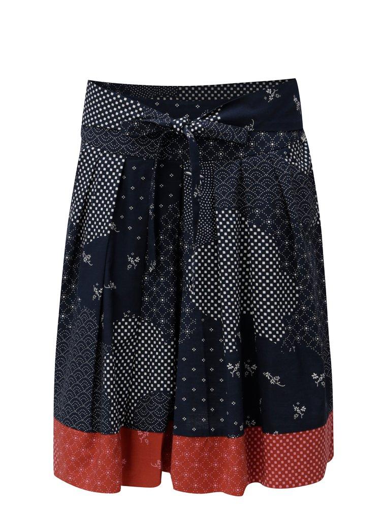 Modrá vzorovaná sukně Maloja