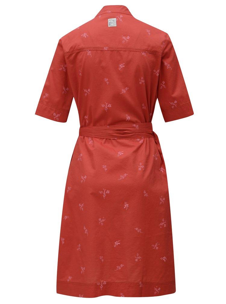 Cihlové zavinovací šaty Maloja