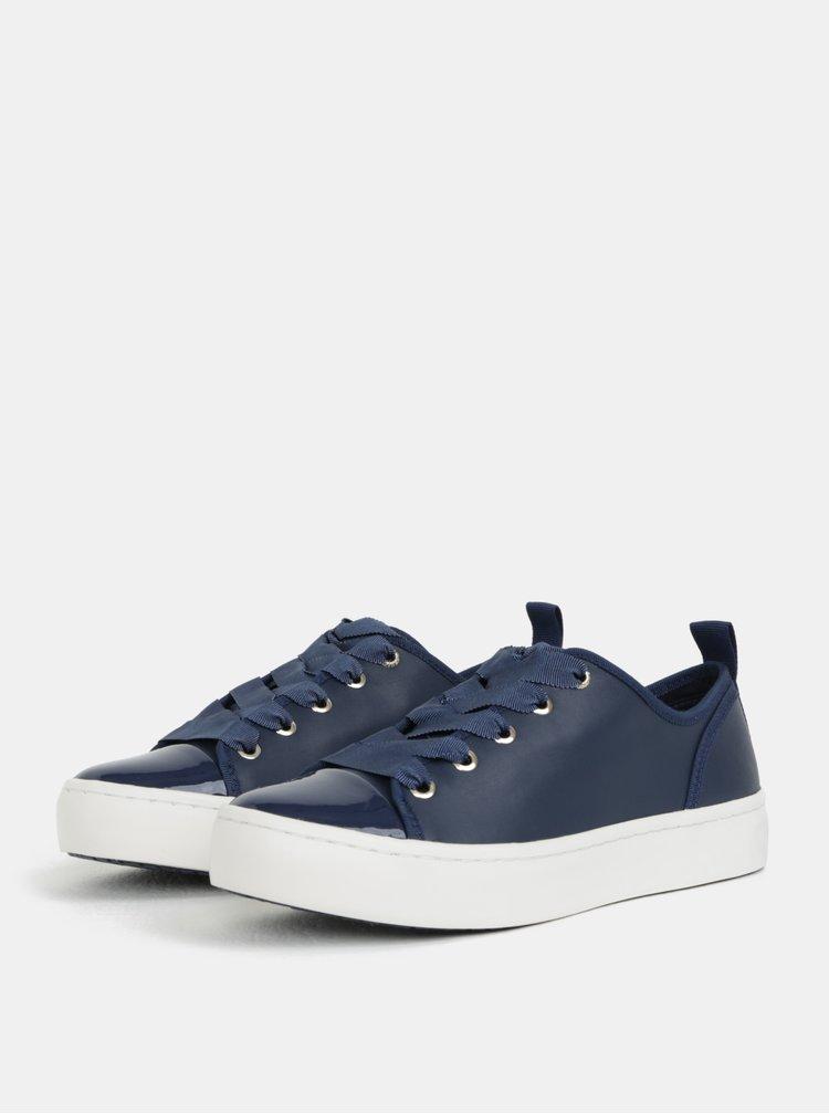 Tmavě modré kožené tenisky Tommy Hilfiger