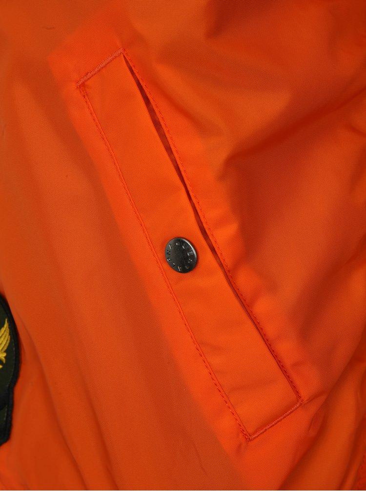 Oranžový pánský bomber ALPHA INDUSTRIES