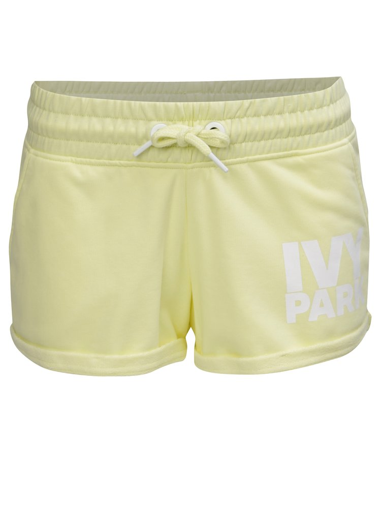 Žlté kraťasy s logom a vreckami Ivy Park