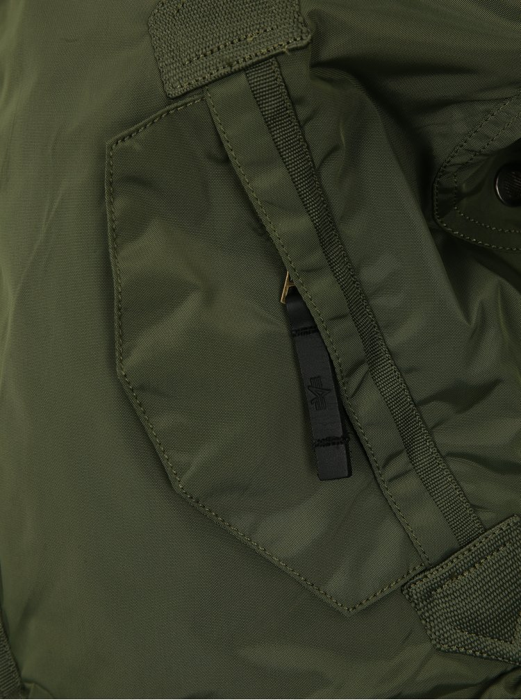 Khaki pánská bunda s kapsami ALPHA INDUSTRIES