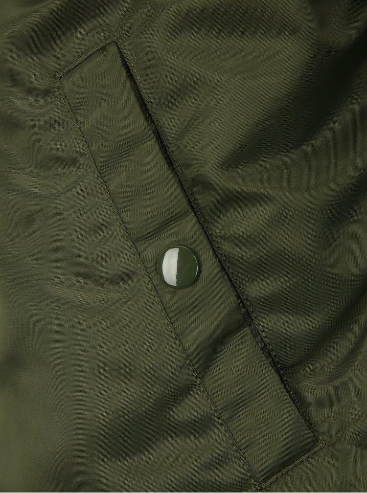 Hnědo-zelený pánský oboustranný bomber ALPHA INDUSTRIES