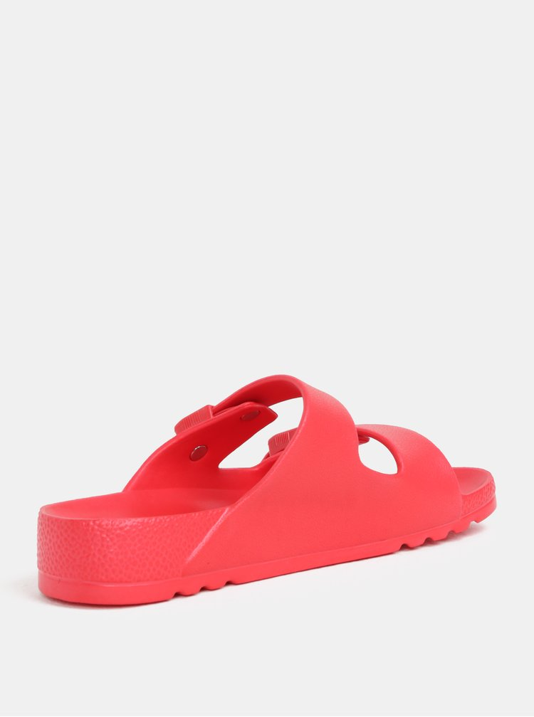 Červené dámské zdravotní pantofle Scholl Bahia