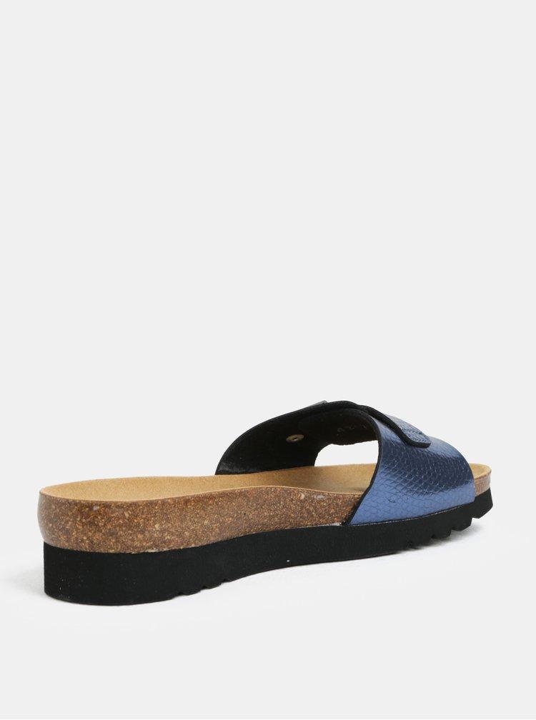 Modré dámské zdravotní pantofle Scholl Ginni